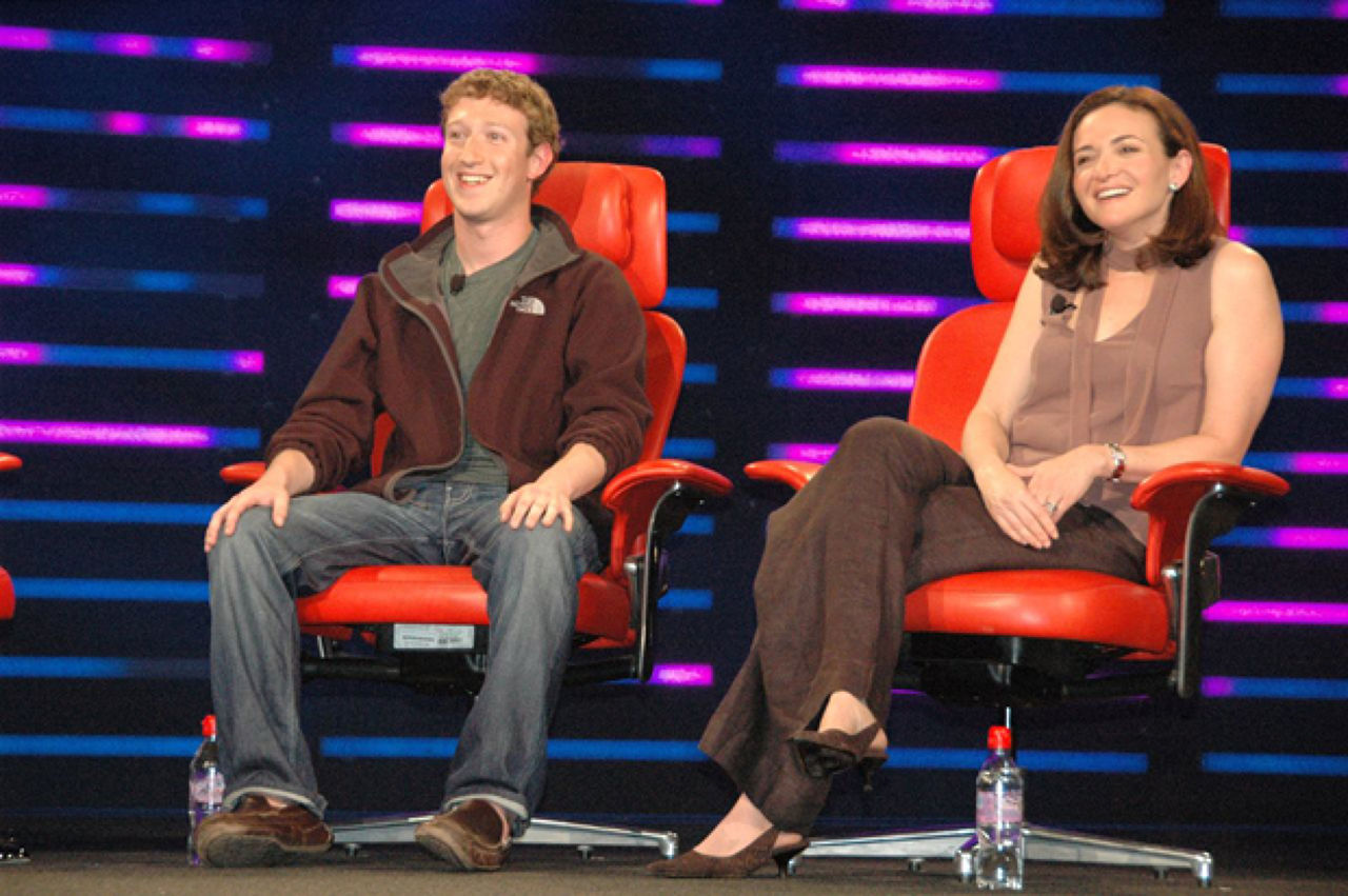 introverted and extroverted leaders Mark Zuckerberg and Sheryl Sandberg